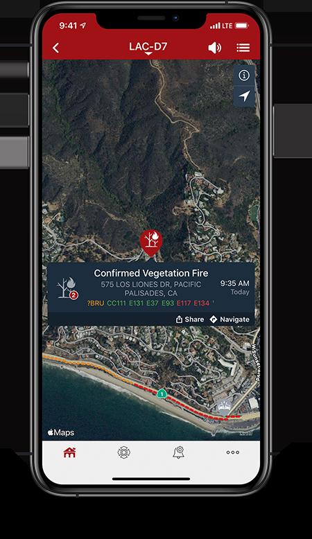 PulsePoint vegetation fire notification.