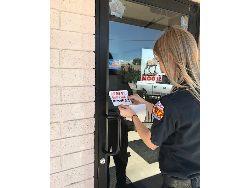 PulsePoint Verde Valley AZ Outreach Stickers.