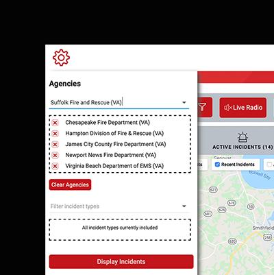 PulsePoint web app running on a desktop browser.