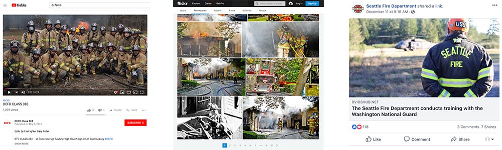 PulsePoint agency profile page social media examples.