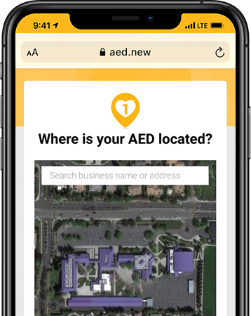 Report AED locations on the easy to remember website, aed.new.