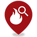 Arson Investigation map pin.